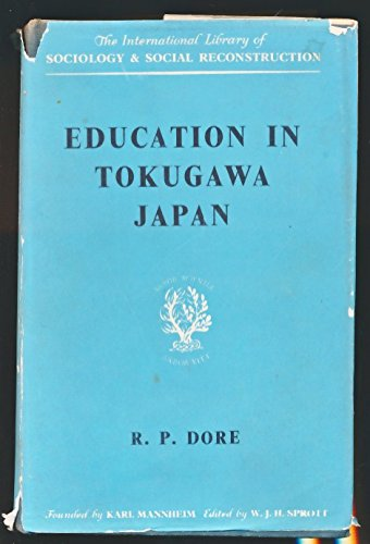 9780710034465: Education in Tokugawa Japan