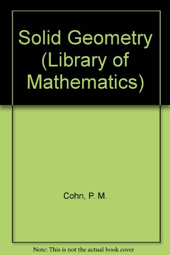 9780710043436: Solid geometry (Library of Mathematics)