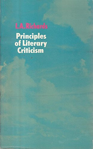 9780710046055: Principles of Literary Criticism