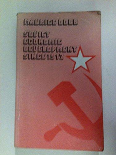 9780710046581: Soviet economic development since 1917,