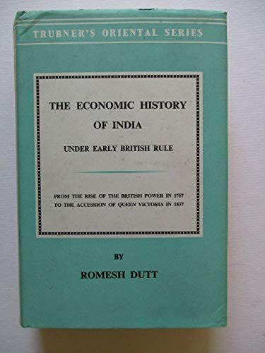 9780710060587: Economic History of India