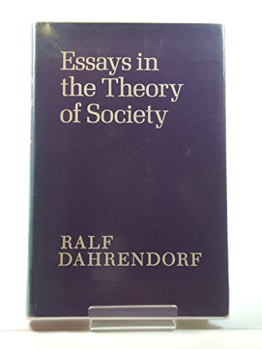 9780710060792: Essays in the Theory of Society