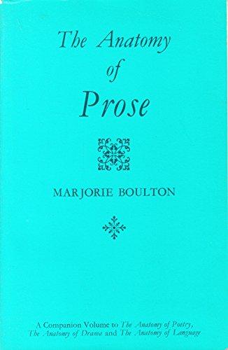 9780710060891: The anatomy of prose