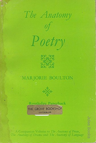 9780710060914: Anatomy of Poetry (Routledge paperback)