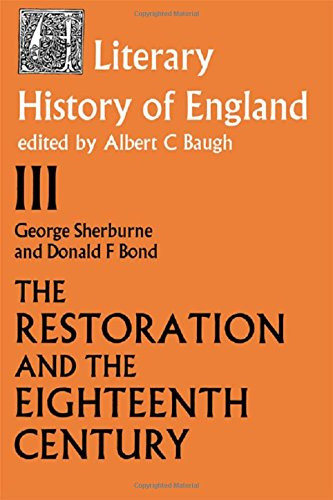 9780710061300: The Literary History of England: The Restoration and the Eighteenth Century, 1660-1789 v. 3