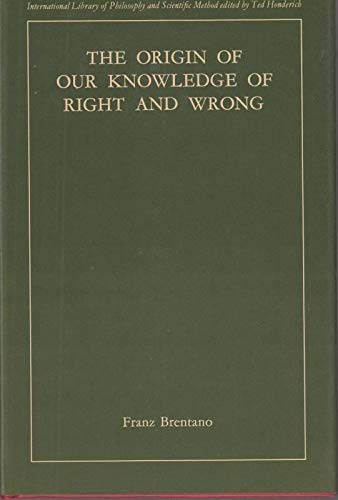 9780710063212: Origin of Our Knowledge of Right and Wrong