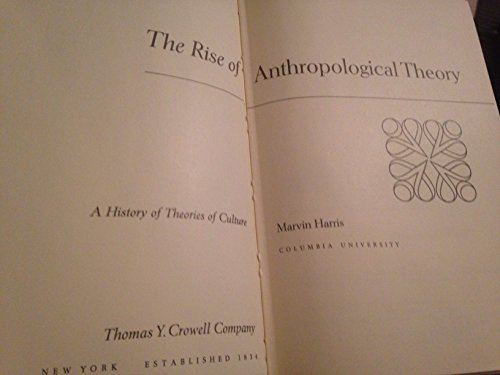 Rise of Anthropological Theory: A History of: Harris, Marvin (1927-)