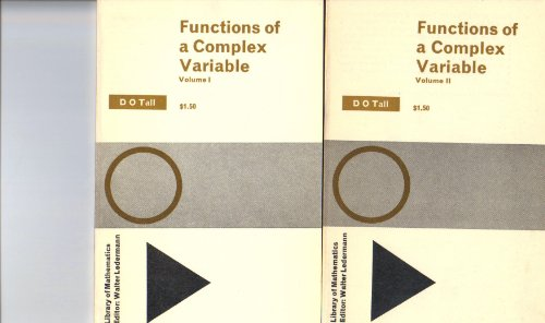 9780710065674: Functions of a Complex Variable