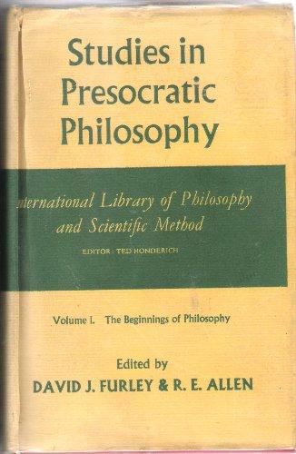 9780710067593: Studies in Presocratic Philosophy, Vol. 1: The Beginnings of Philosophy