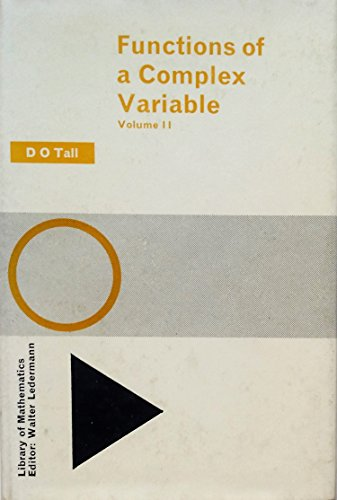 9780710068514: Functions of a Complex Variable: v. 2
