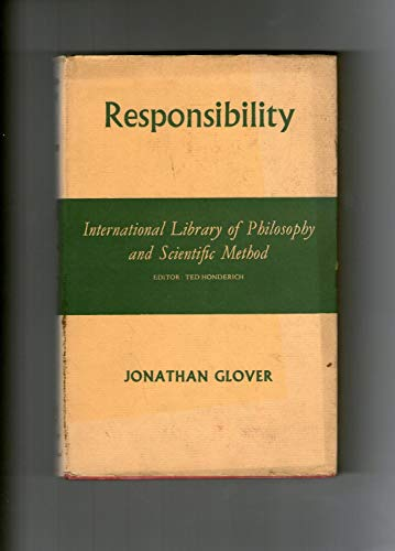 9780710068798: Responsibility (International Library of Philosophy)