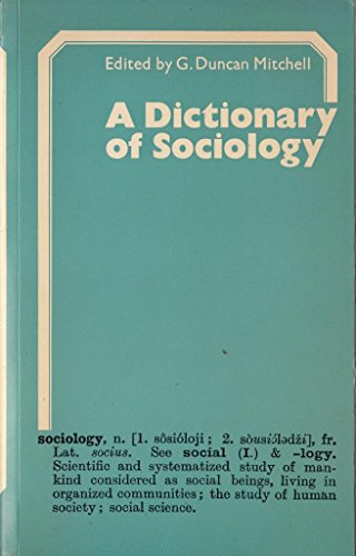 9780710069009: Dictionary of Sociology