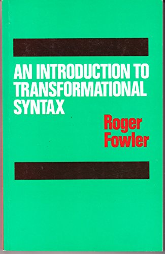 9780710069764: Introduction to Transformational Syntax