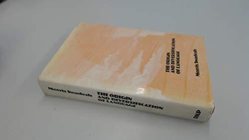 9780710071958: Origin and Diversification of Language