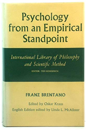 9780710074256: Psychology from an Empirical Standpoint (International Library of Philosophy)