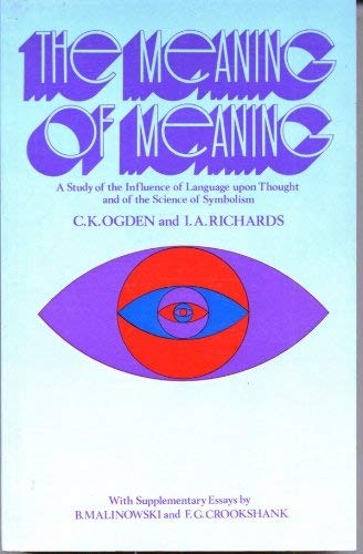 9780710074638: Meaning of Meaning