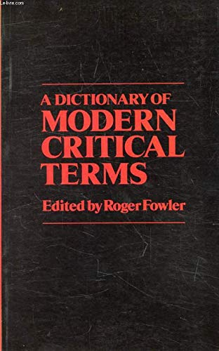 9780710075444: Dictionary of Modern Critical Terms