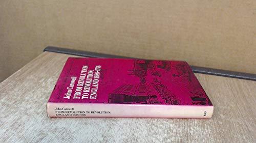 9780710076083: From Revolution to Revolution (Development of English Society)