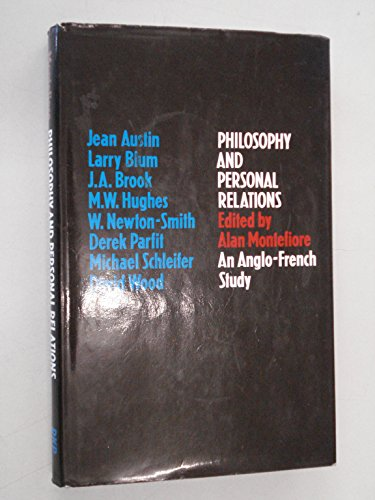 9780710076618: Philosophy and Personal Relations: An Anglo-French Study
