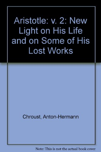 9780710077226: Aristotle: v. 2: New Light on His Life and on Some of His Lost Works