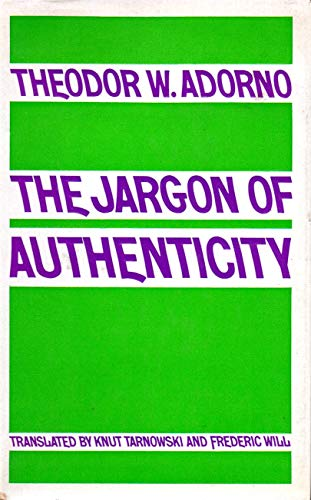 9780710077424: Jargon of Authenticity