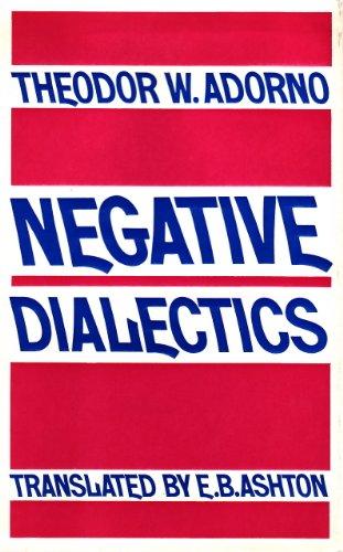 9780710077714: Negative Dialectics