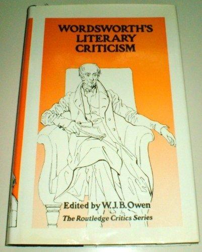 Wordsworth's Literary Criticism (Critics): William Wordsworth