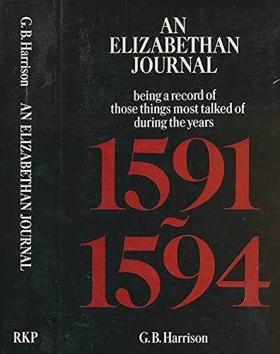 9780710078810: Elizabethan Journal