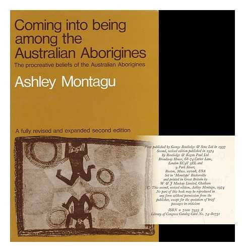 9780710079336: Coming into Being Among the Australian Aborigines: Procreative Beliefs of the Australian Aborigines