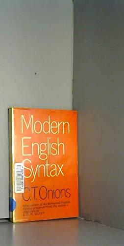 Modern English Syntax: C.T. Onions