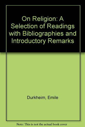 9780710081087: On Religion: A Selection of Readings with Bibliographies and Introductory Remarks