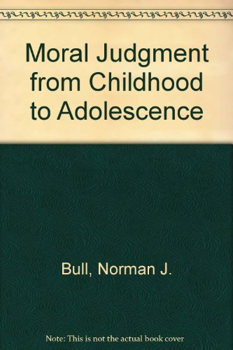 9780710081506: Moral Judgment from Childhood to Adolescence