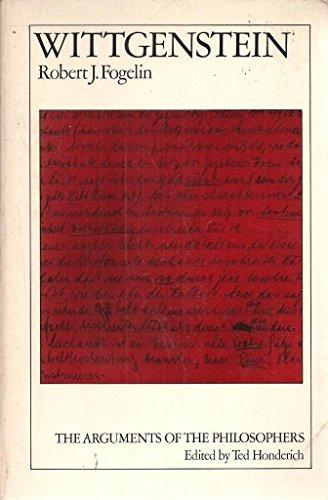 9780710083470: Wittgenstein (Arguments of the Philosophers)
