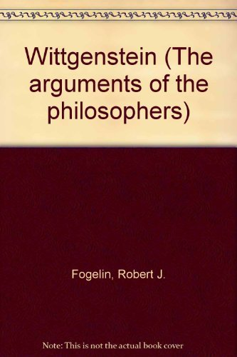 9780710084262: Wittgenstein (The arguments of the philosophers)