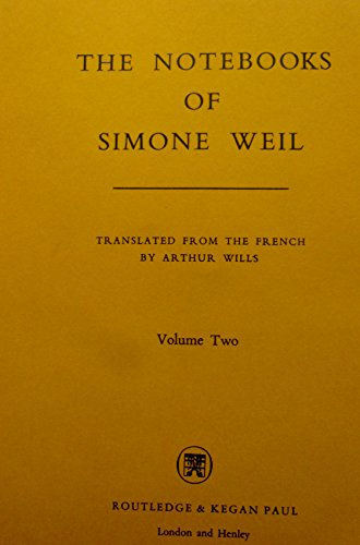 9780710085238: Notebooks of Simone Weil: 002