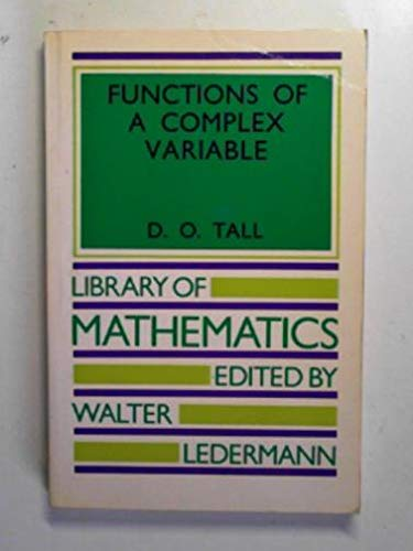 9780710086556: Functions of a Complex Variable