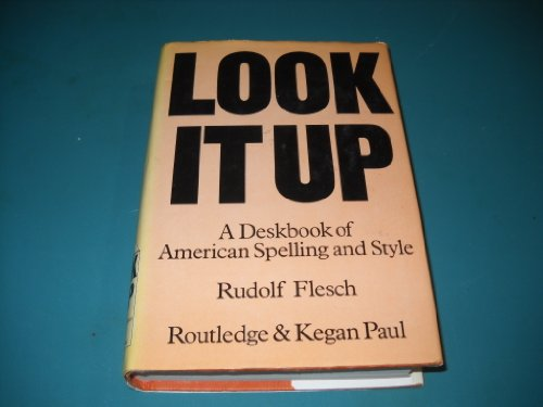 9780710087959: Look it Up: Deskbook of American Spelling and Style
