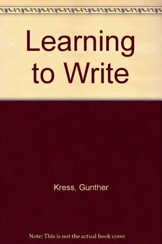 Learning to Write: Kress, Gunther