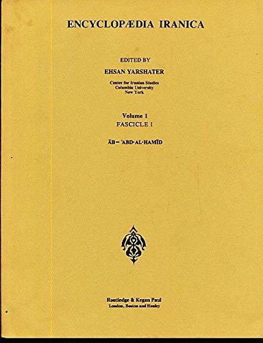 9780710090904: Encyclopedia Iranica (Vol 1)