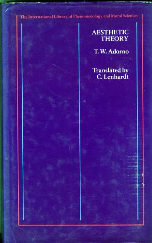9780710092045: Aesthetic theory (The International library of phenomenology and moral sciences)