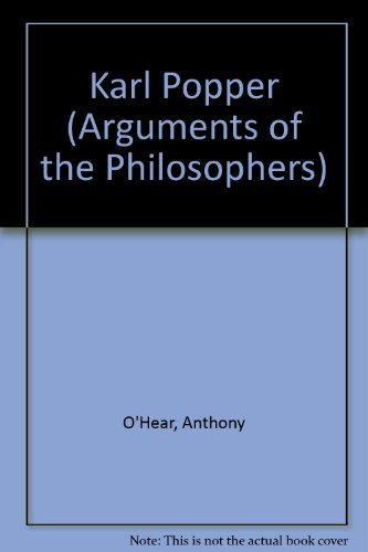 9780710093349: Karl Popper (Arguments of the Philosophers)