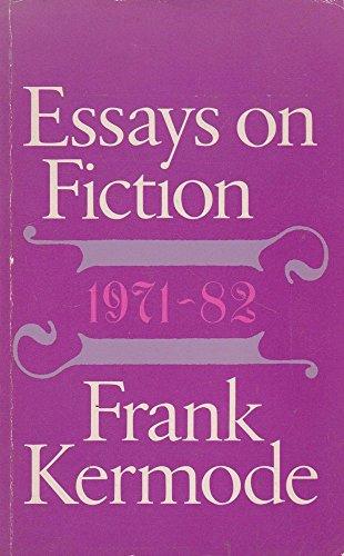 9780710094438: Essays on Fiction