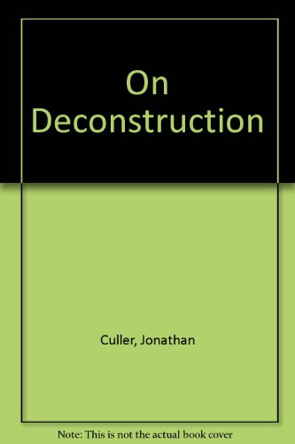 9780710095237: On Deconstruction