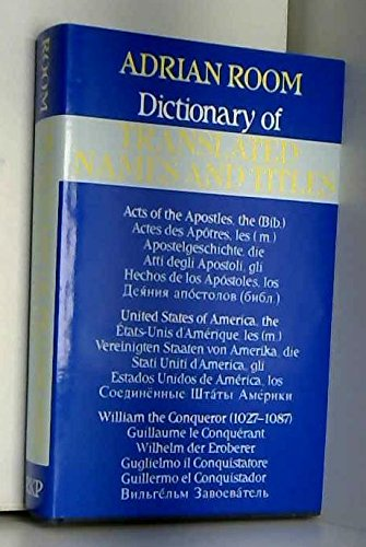 Dictionary of Translated Names and Titles: Room, Adrian
