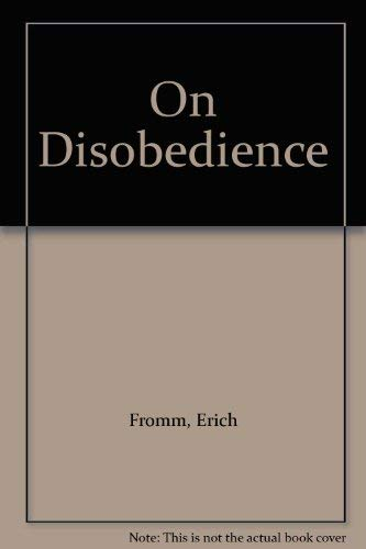 9780710202390: On Disobedience