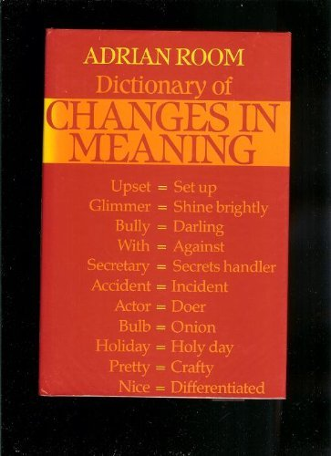 Dictionary of Changes in Meaning: Room, Adrian