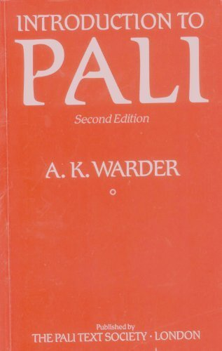 Introduction to Pali.: Warder, A. K.: