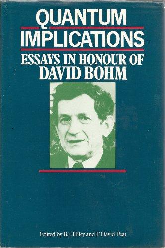 9780710208064: Quantum Implications: Essays in Honour of David Bohm