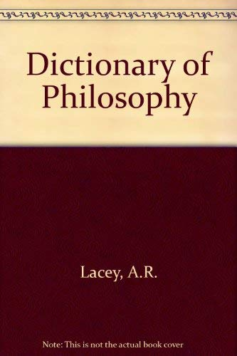 9780710209917: Dictionary of Philosophy