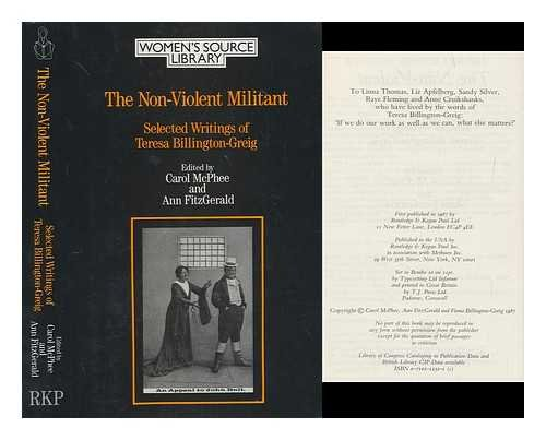 Nonviolent Militant: Selected Writings (Women's Source Library)